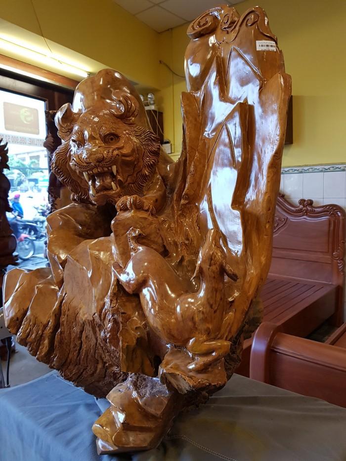 Tượng hổ gỗ nu kháo 90cm0