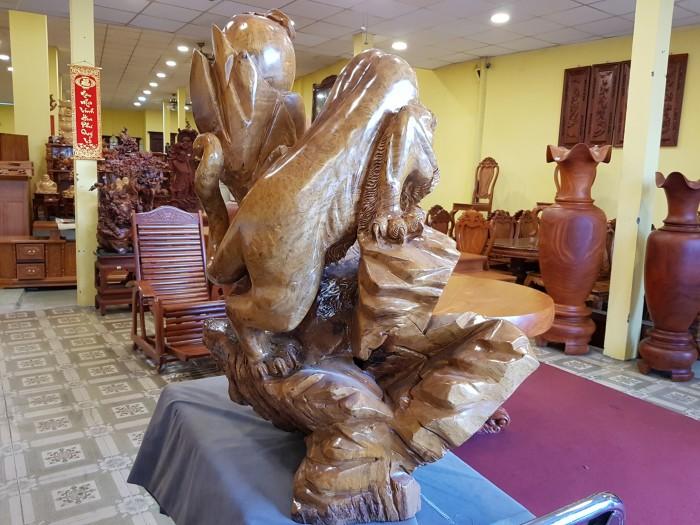 Tượng hổ gỗ nu kháo 90cm3