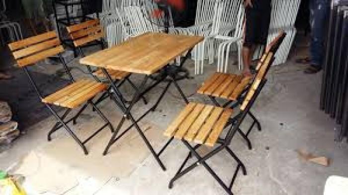 bàn ghế gổ cafe giá rẻ tại xưởng sản xuất HGH 11960