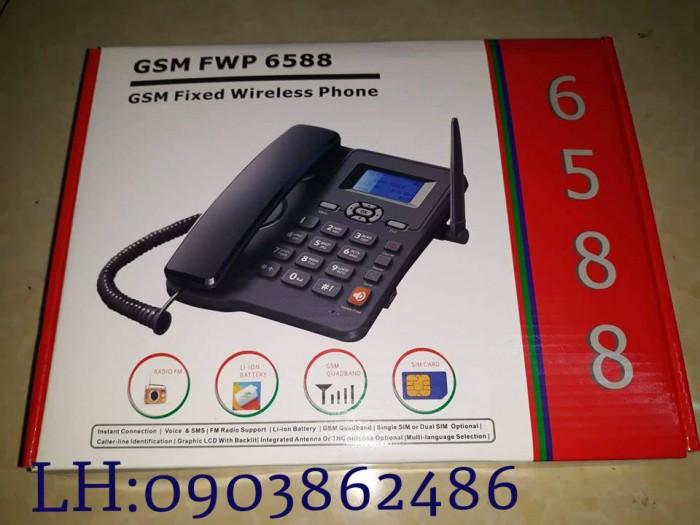 Điện Thoại Bàn Homefone FWP6588 Sử Dụng Sim Gsm Mobi , Vina , Viettel , Beeline...5
