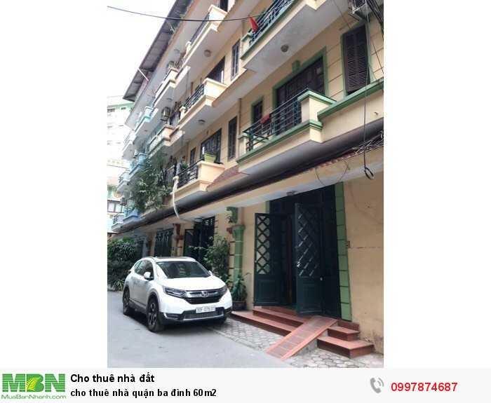 Cho Thuê Nhà Quận Ba Đình 60M2