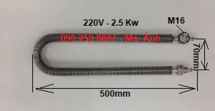 Cánh tản nhiệt sấy phi 11x U500, tâm 70/220V - 2.5 Kw3
