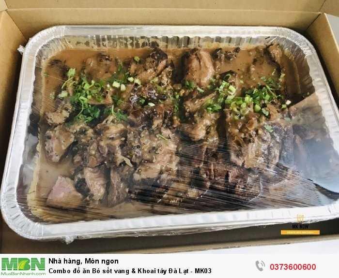 Đặt Combo đồ ăn Bò sốt vang & Khoai tây Đà Lạt - MK03