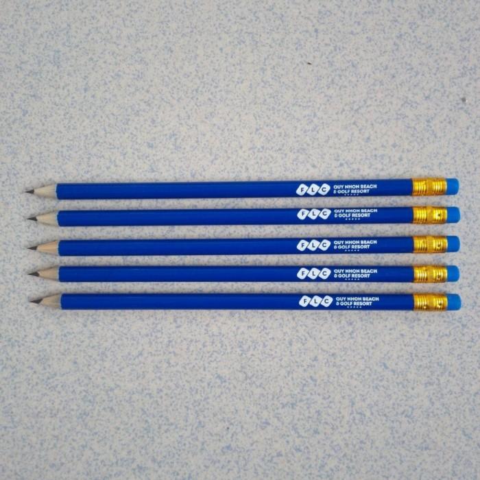 Bút chì in ấn logo thương hiệu giá rẻ.1