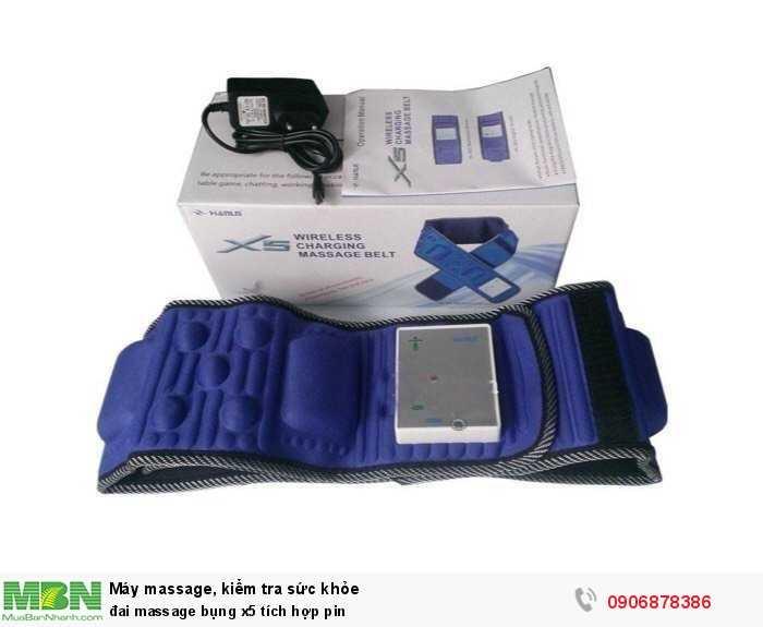 Đai massage bụng x5 tích hợp pin1
