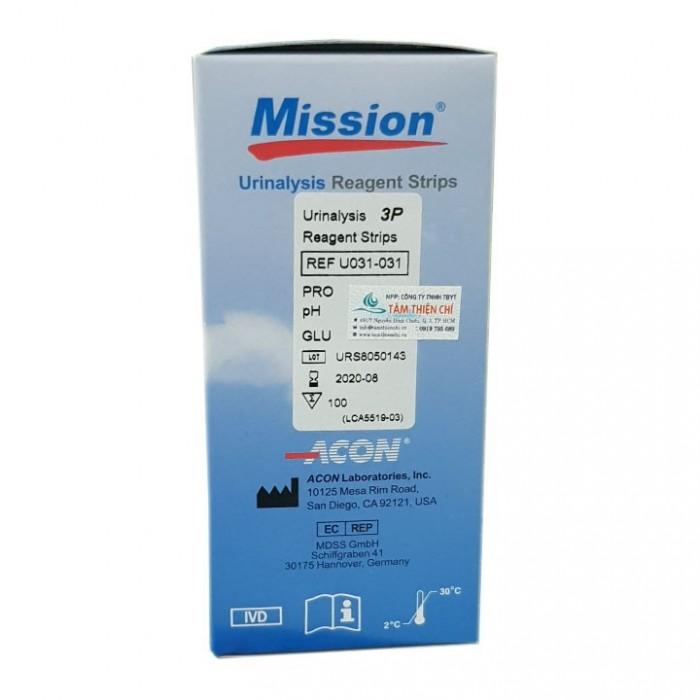 Que nước tiểu ACON Mission 3 thông số URS 3 (Hộp 100 test)