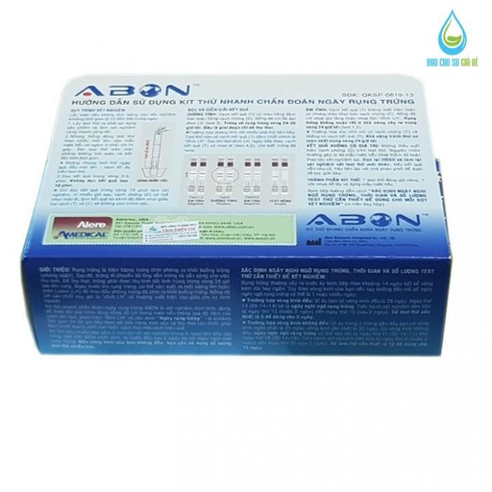 Que thử rụng trứng LH ABON (Hộp 7 test)
