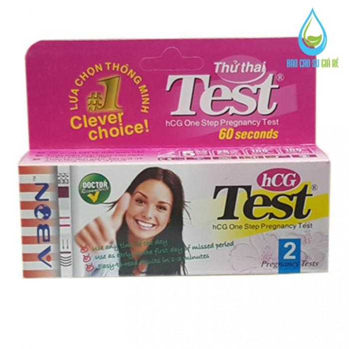 Que thử thai hCG ABON hộp 2 test