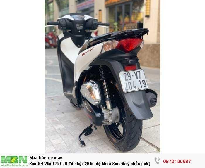 Bán SH Việt 125 Full độ nhập 2015, độ khoá Smartkey chống chộm