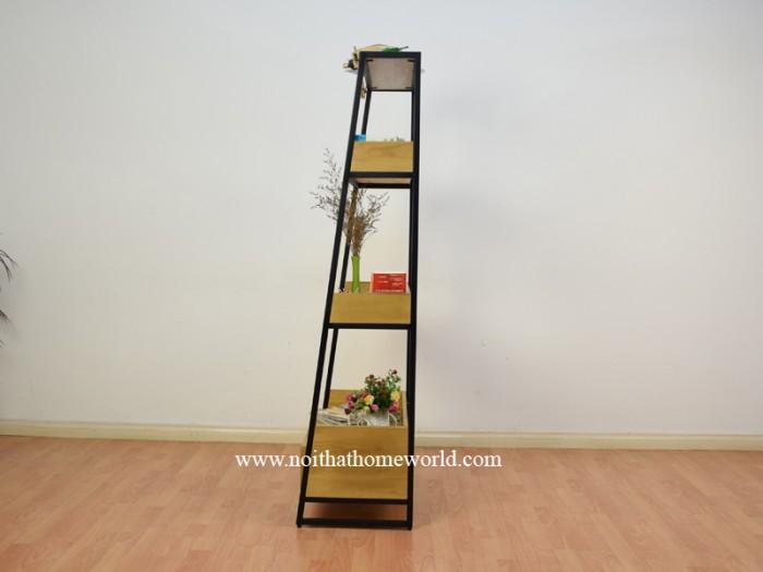 Kệ sắt đứng trang trí có hộc tủ tiện lợi giá rẻ- nội thất Homeworld12