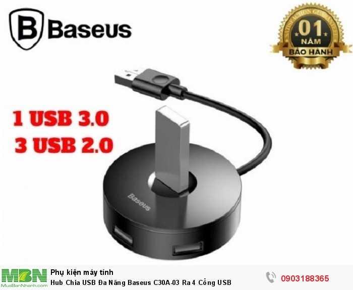Bộ chuyển đổi USB Hub loại 4 trong 1 Baseus sang USB3.0 + 3 * USB2.0 cho MacBook , laptop, PC4