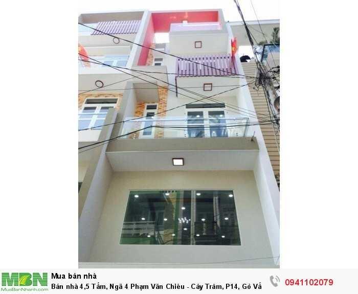 Bán nhà 4,5 Tấm, Ngã 4 Phạm Văn Chiêu - Cây Trâm, P14, Gò Vấp