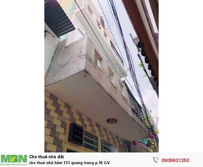 Cho Thuê Nhà Hẻm 133 Quang Trung P.10 Gv