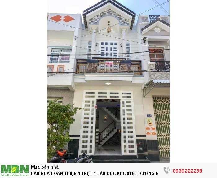 Bán Nhà Hoàn Thiện 1 Trệt 1 Lầu Đúc Kdc 91B - Đường Nguyên Văn Linh