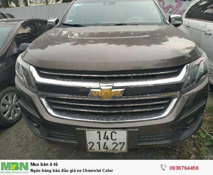 Ngân hàng bán đấu giá xe Chevrolet Color