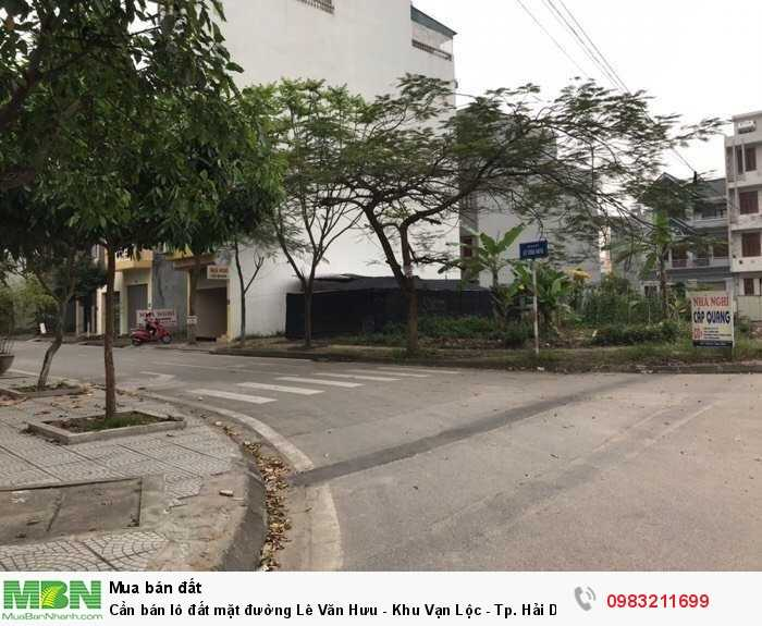 Cần bán lô đất mặt đường Lê Văn Hưu - Khu Vạn Lộc - Tp. Hải Dương