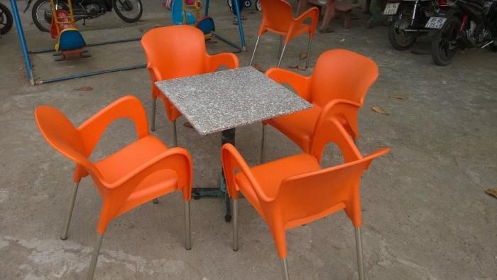 Bàn ghế cafe mây nhựa giá rẻ tại xưởng sản xuất HGH 12080
