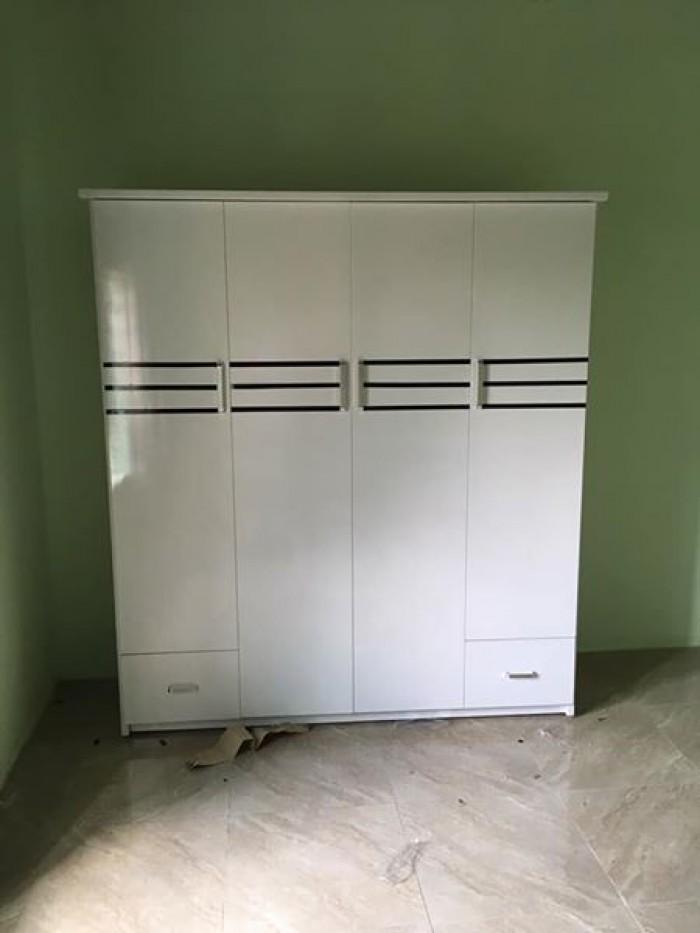 Tủ cao 180 ngang 160 sâu 45cm bao gồm 3 ngăn treo quần áo và 2 ngăn xếp.2