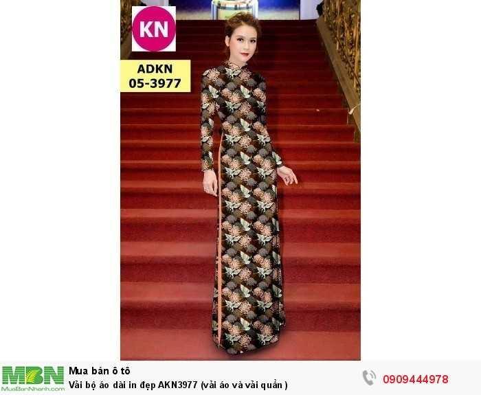 Vải bộ áo dài in đẹp AKN3977 (vải áo và vải quần )0