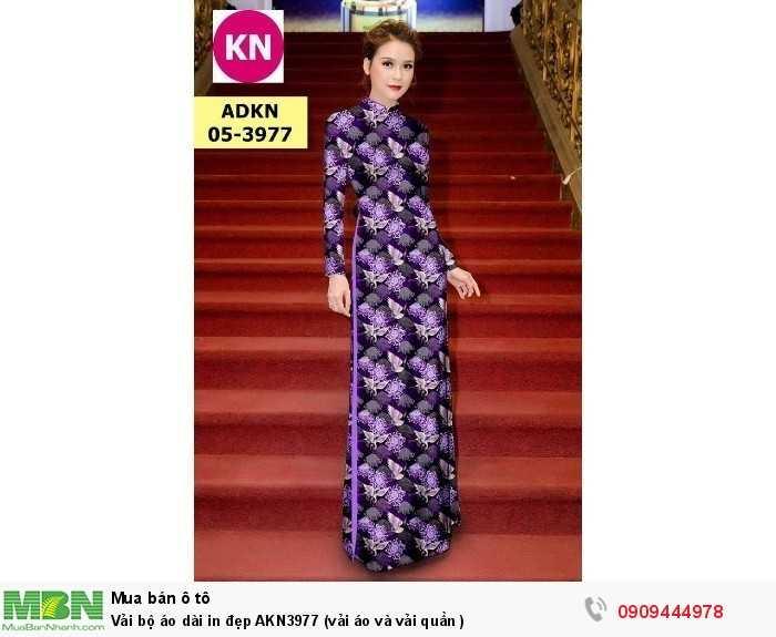 Vải bộ áo dài in đẹp AKN3977 (vải áo và vải quần )2