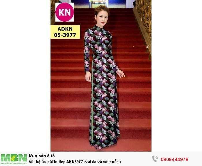 Vải bộ áo dài in đẹp AKN3977 (vải áo và vải quần )3