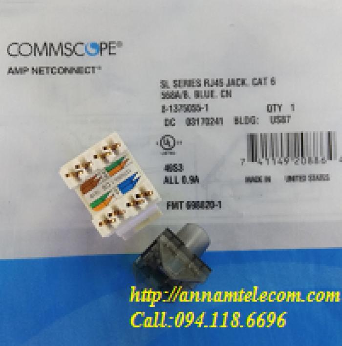 Nhân mạng Cat6 AMP RJ45 mã 1375055-18