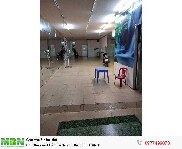 Cho Thuê Mặt Tiền Lê Quang Định, Bình Thạnh