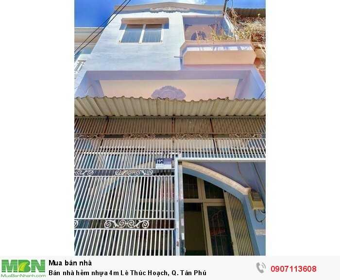 Bán nhà hẻm nhựa 4m Lê Thúc Hoạch, Q. Tân Phú