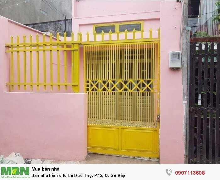 Bán nhà hẻm ô tô Lê Đức Thọ, P.15, Q. Gò Vấp