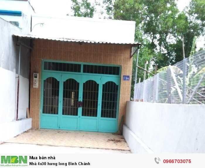 Nhà 4x30 Hưng Long Bình Chánh