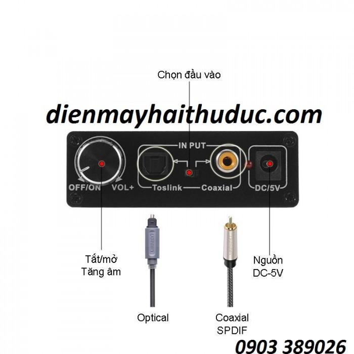 Bộ chuyển optical ra audio OEM Ngõ vào: Optical, coaxial.1
