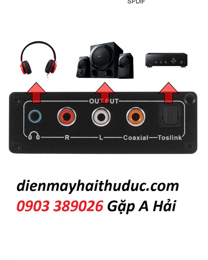 Bộ chuyển optical ra audio OEM Ngõ ra: optical, coaxial, 3.5mm, analog2