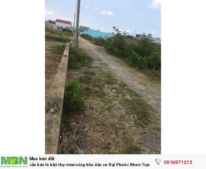 Cần bán lô biệt thự view sông khu dân cư Đại Phước Nhơn Trạch Đồng Nai cách TpHCM 4km