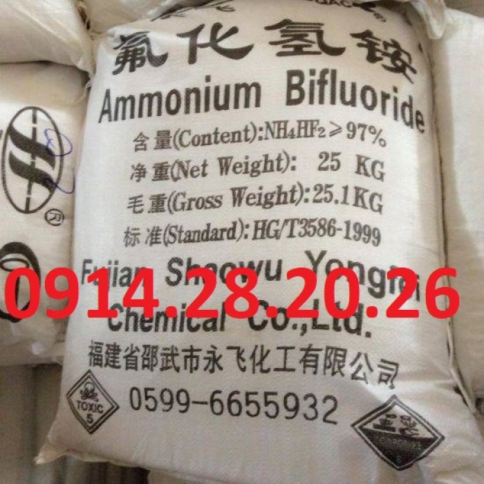 Bán Amoni biflorua, ammonium bifluoride, NH4HF21