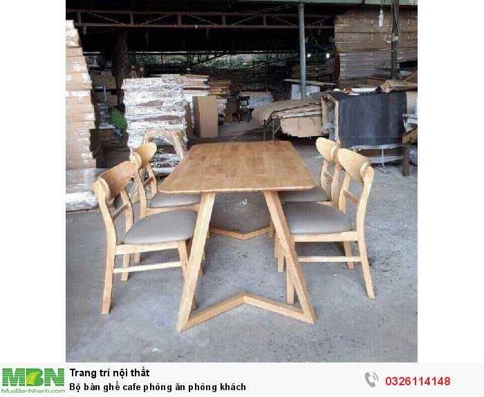 Bộ bàn ghế cafe phòng ăn phòng khách0