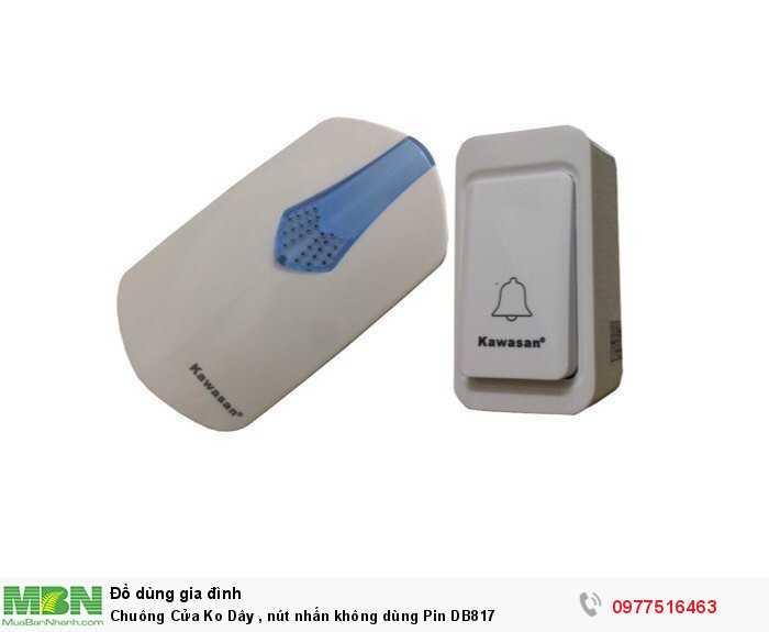 Chuông Cửa Ko Dây , nút nhấn không dùng Pin DB817
