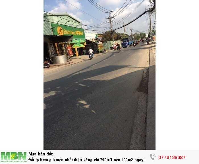 Đất tp hcm giá mền nhất thị trường chỉ 790tr/1 nền 100m2 ngay khu dân cư hiện hữu