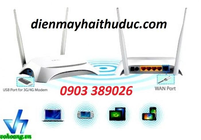 Router phát wifi TP-Link TL-MR 3420 Hoạt động tốt với USB 3G của Mobifone, Vinaphone, Viettel,... (với Firmware mới nhất