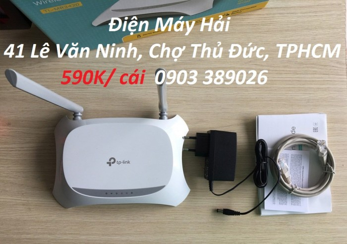Router phát wifi TP-Link TL-MR 3420 Tương thích với các modem USB  3G / 4G băng tần tốc dộ cao LTE