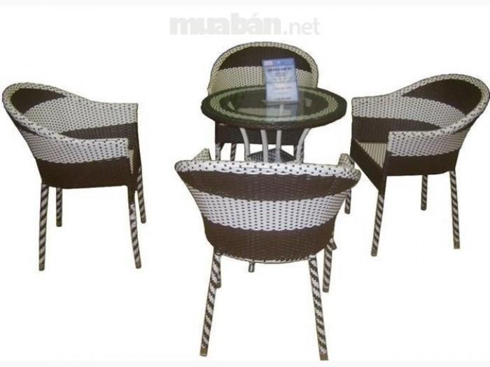 bàn ghế gổ cafe giá rẻ tại xưởng sản xuất HGH 12380