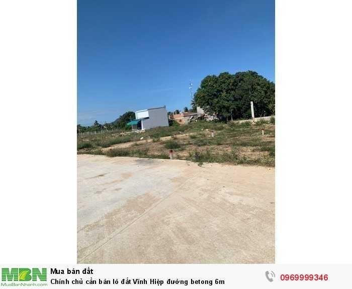 Chính chủ cần bán lô đất Vĩnh Hiệp đường betong 6m