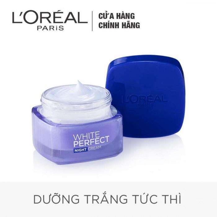 Bộ Kem Dưỡng Da Trắng Mượt Đều Màu Ngày Và Đêm L'Oréal White Perfect 50ml2