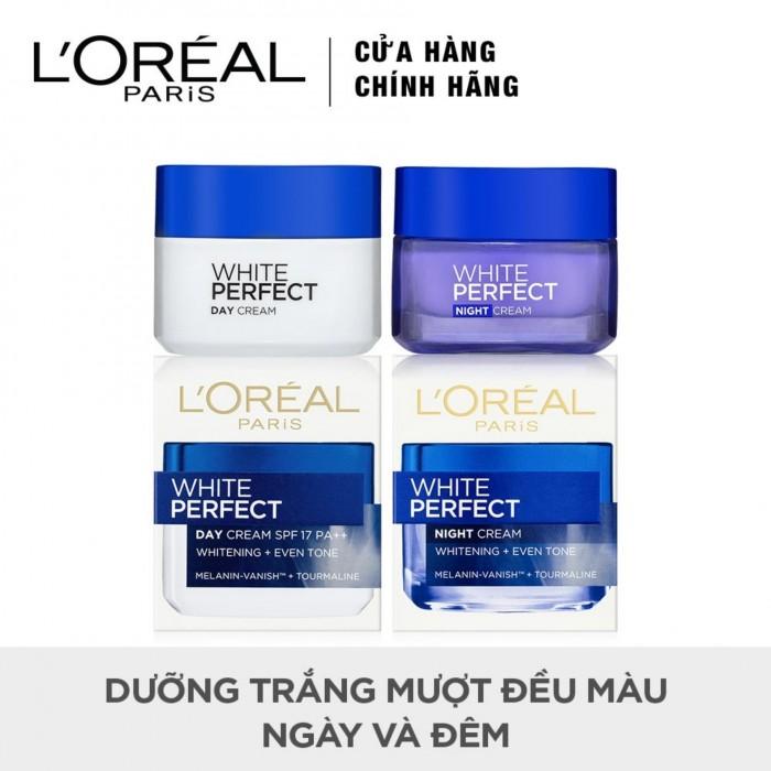 Bộ Kem Dưỡng Da Trắng Mượt Đều Màu Ngày Và Đêm L'Oréal White Perfect 50ml3