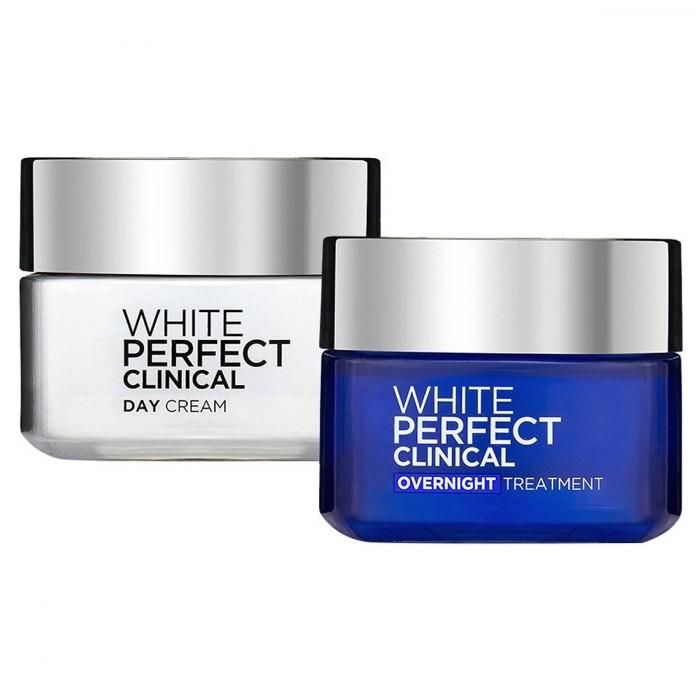 Bộ Kem Dưỡng Da Trắng Mượt Đều Màu Ngày Và Đêm L'Oréal White Perfect 50ml0