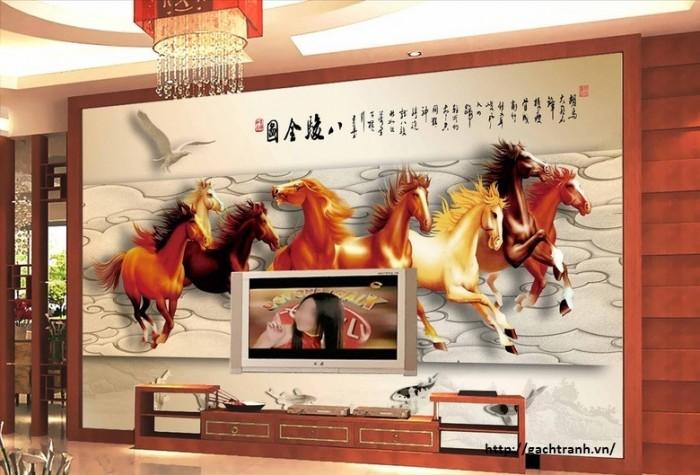 tranh 3d ngựa VL9089