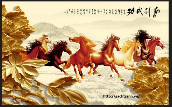 tranh 3d ngựa VL9088