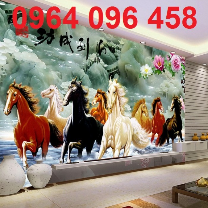 tranh 3d ngựa VL9081