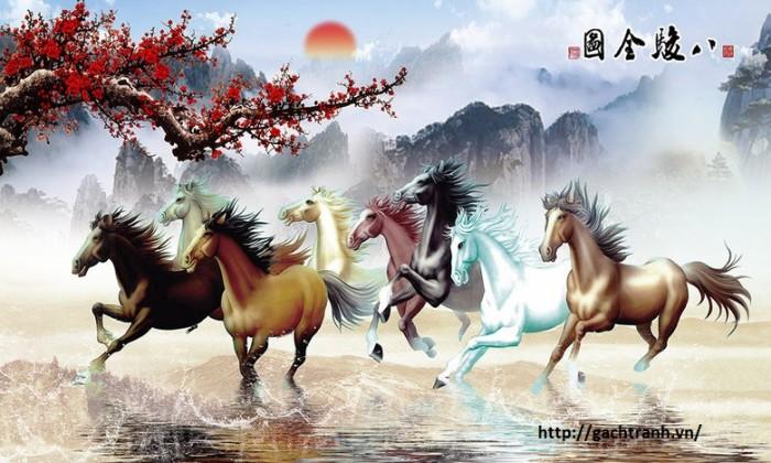 tranh 3d ngựa VL9086