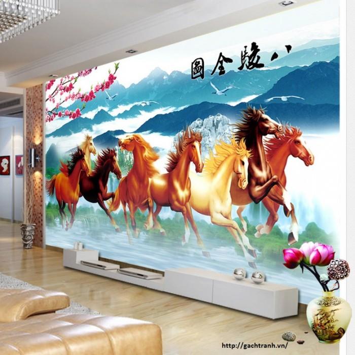 tranh 3d ngựa VL9083