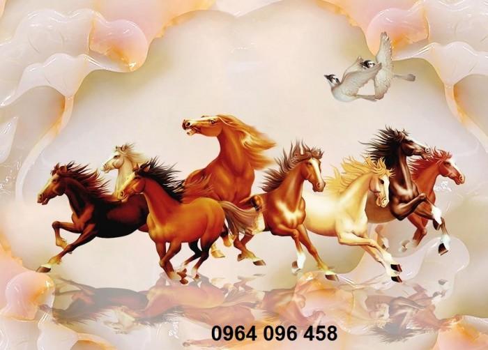 tranh 3d ngựa VL9082